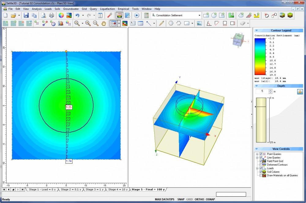rocscience Settle3D三维固结沉降分析软件
